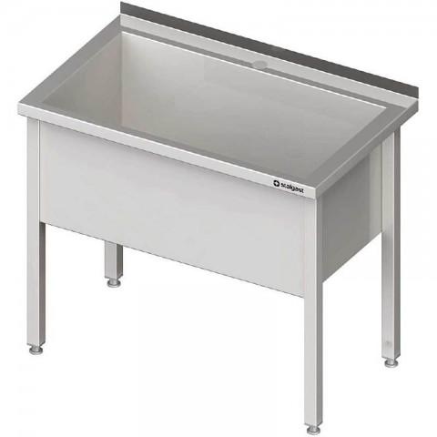 Stół z basenem 1-komorowym spawany 1000x600x850 mm h 400 mm