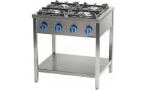 Kuchnia gazowa wolnostojąca 900 - 4 palnikowa z półką 36kW - G30 (propan-butan)