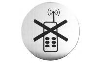 Tabliczka informacyjna samoprzylepna - używania telefonów komórkowych