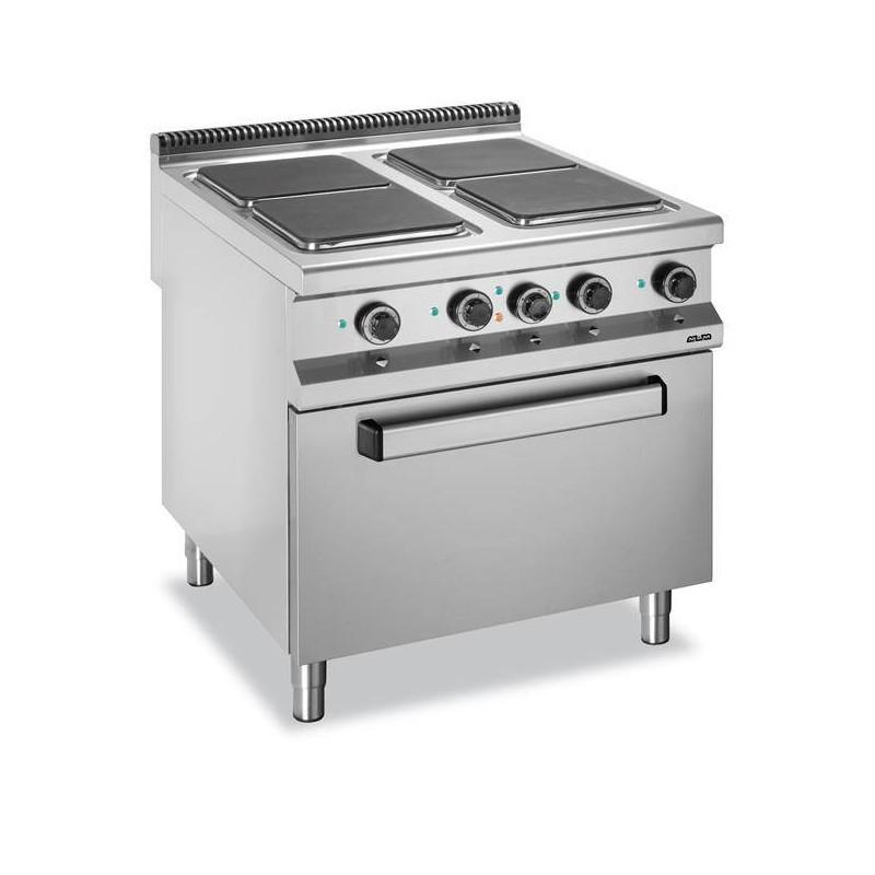 Kuchnia elektryczna z piekarnikiem elektrycznym GN2 1 4 płytowa, z kwadratowy   -> Kuchnia Elektryczna Z Piekarnikiem Elektrycznym