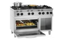 6-palnikowa kuchnia gazowa MFG 7360 z piekarnikiem elektrycznym GN 2/1 i podstawą otwartą