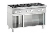 6-palnikowa kuchnia gazowa z otwartą podstawą