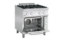 4-palnikowa kuchnia gazowa z piekarnikiem elektrycznym z termoobiegiem 1/1 GN