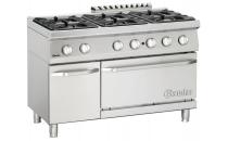 6-palnikowa kuchnia gazowa z piekarnikiem gazowym 2/1 GN i neutralną szafką