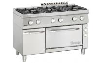 6-palnikowa kuchnia gazowa z piekarnikiem elektrycznym 1/1 GN i neutralną szafką