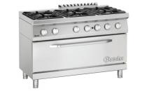 6-palnikowa kuchnia gazowa z dużym piekarnikiem gazowym