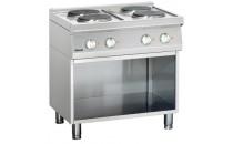 4-płytowa kuchnia elektryczna z podstawą otwartą