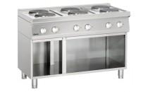 6-płytowa kuchnia elektryczna z podstawą otwartą