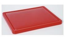 Deska do krojenia mała, HACCP czerwona [HENDI]