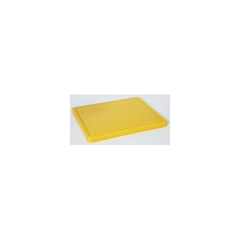 Deska do krojenia mała, HACCP żółta [HENDI]