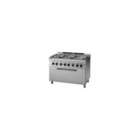 Kuchnia gazowa z piekarnikiem gazowym 3 x GN 1/1, CF6-712G/P [RM GASTRO]