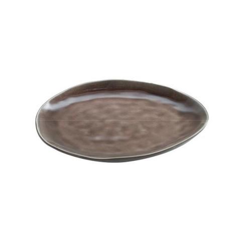 PURE brązowy talerz owal 20x17cm 2/12