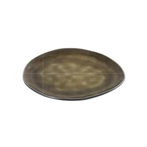 PURE zielony talerz owal 20x17cm 2/12