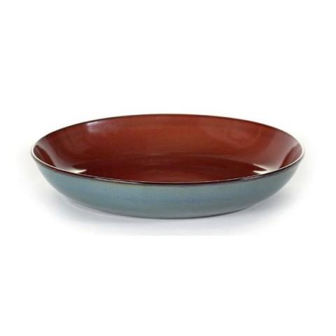 TERRES DE REVES rust/smokey blue talerz na pastę 23.5cm 4/24
