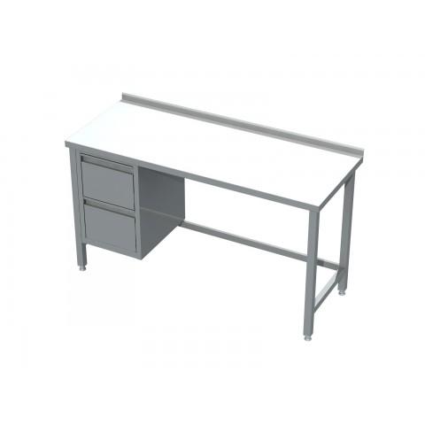 Stół z blokiem 2 szuflad 0420  EKO 1800x600x850mm
