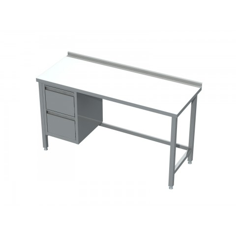 Stół z blokiem 2 szuflad 0420  EKO 1600x700x850mm