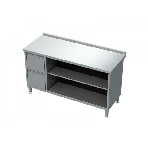 Stół-szafka otwarta z półką i blokiem 2 szuflad 0422  EKO 800x600x850mm