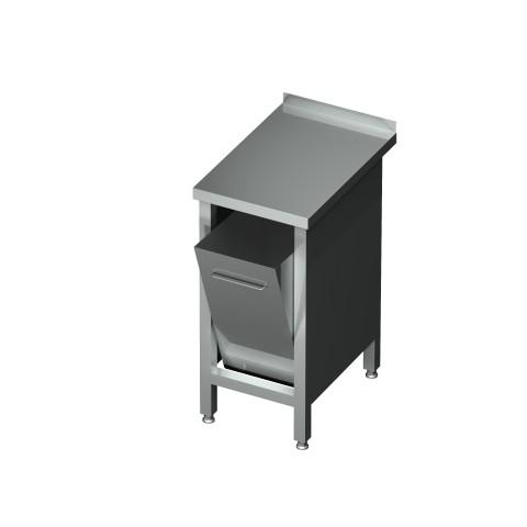 Stół z pojemnikiem uchylnym 0470  EKO 400x600x850mm