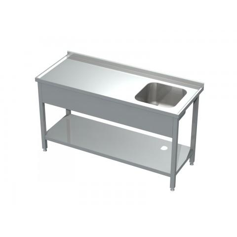Stół ze zlewem i półką 0502 EKO 600x600x850mm