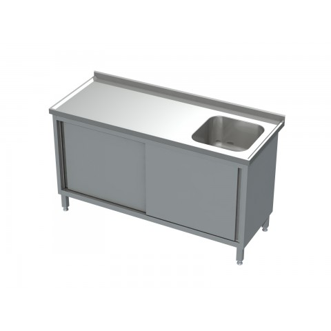 Stół-szafka drzwi otwierane ze zlewem 0504  EKO 600x600x850mm