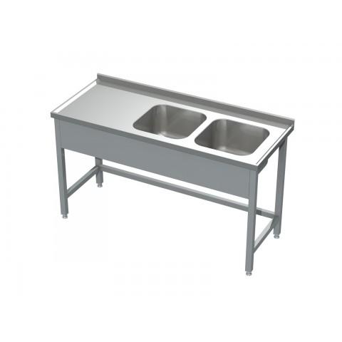 Stół ze zlewem 2-komorowym 0506 EKO 1200x600x850mm