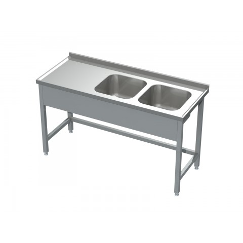 Stół ze zlewem 2-komorowym 0506  EKO 1000x600x850mm