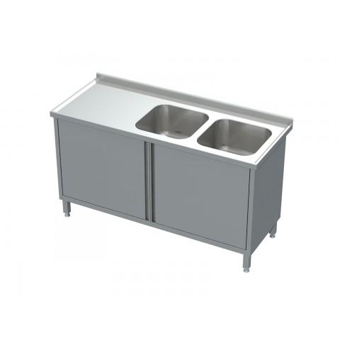 Stół-szafka drzwi otwierane ze zlewem 2-komorowym 0509  EKO 1000x600x850mm