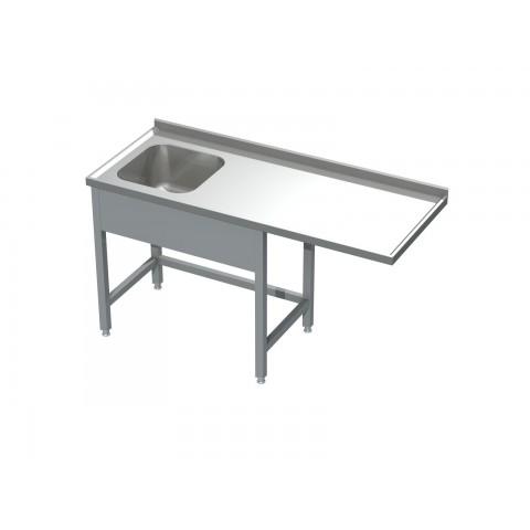 Stół ze zlewem i miejscem na zmywarkę 0515  EKO 1400x600x850mm