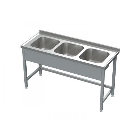 Stół ze zlewem 3-komorowym 0530 EKO 1500x600x850mm