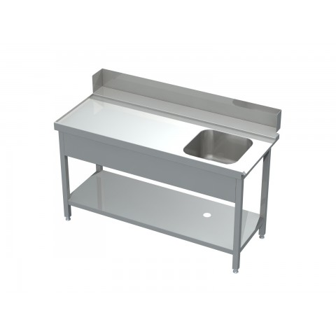 Stół załadowczy ze zlewem i półką 0560 EKO 800x700x850mm