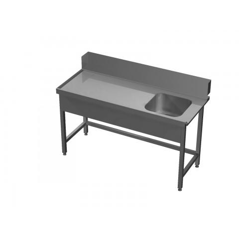 Stół załadowczy ze zlewem bez półki 0562 EKO 800x700x850mm