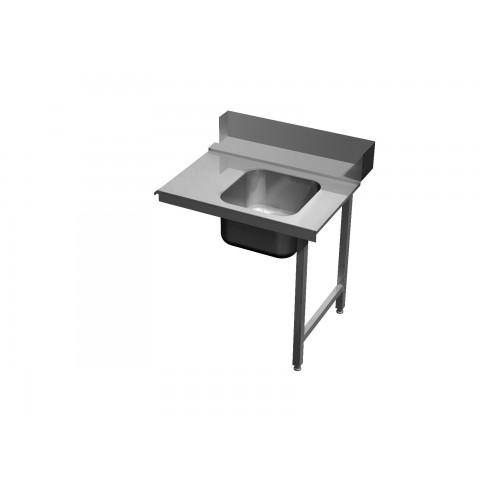 Stół załadowczy ze zlewem na dwóch nogach 0564 EKO 700x700x850mm