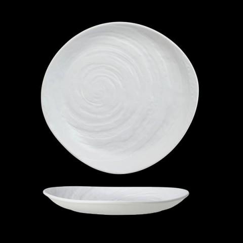 SCAPE Melamina talerz 23cm biały /6