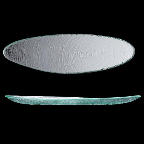 SCAPE Glass talerz owalny 40cm przeźroczysty /6