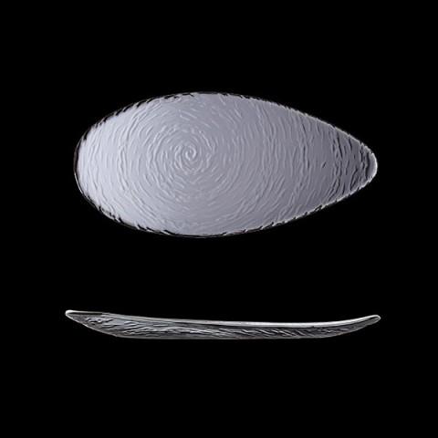 SCAPE Glass talerz owalny 30cm dymny /6