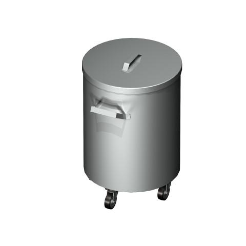 Pojemnik na odpadki okrągły jezdny 0715 EKO 375x500mm
