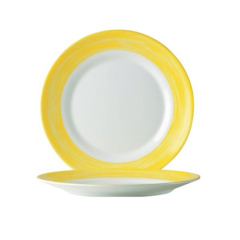 BRUSH talerz płytki żółty 235mm /6/24