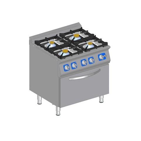 Kuchnia gazowa 4 palnikowa z piekarnikiem gazowym