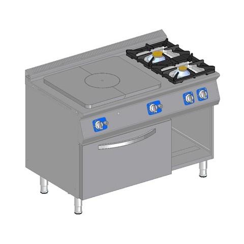 Podgrzewacz płytowy + 2 palniki, z piek. gaz.