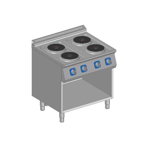 Kuchnia elektryczna 4 płytowa z szafką