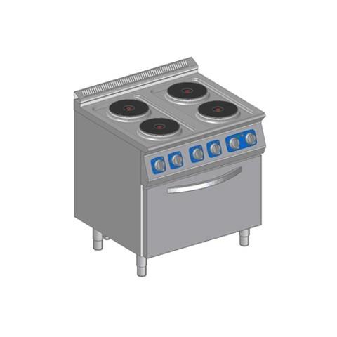 Kuchnia elektryczna 4 płytowa z piekarnikiem elektrycznym