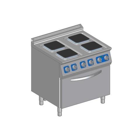 Kuchnia elektryczna 4 płytowa z piek. elektr.