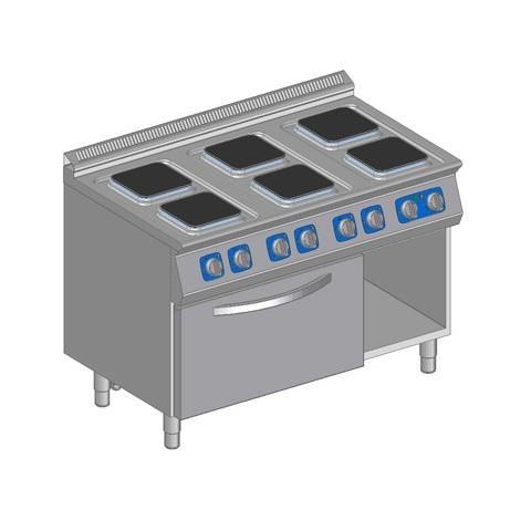 Kuchnia elektryczna 6 płytowa z piek. elektr.