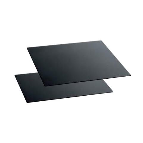 Szyba bufetowa 42x42cm czarna