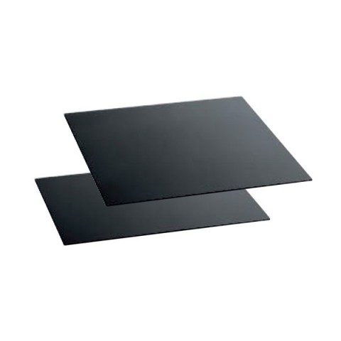 Szyba bufetowa 80x40cm czarna
