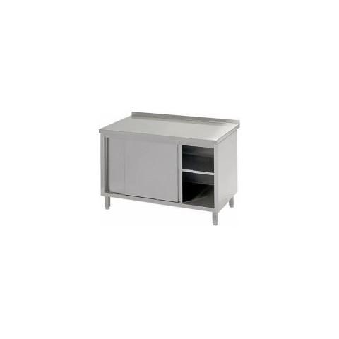Stół przyścienny z drzwiami suwanymi 1000 x 700 x 850mm [STALGAST]