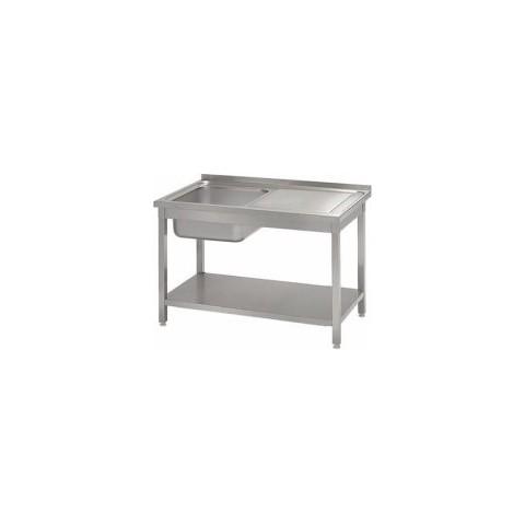 Stół ze zlewem 1-komorowym i półką (komora po lewej stronie) [STALGAST]