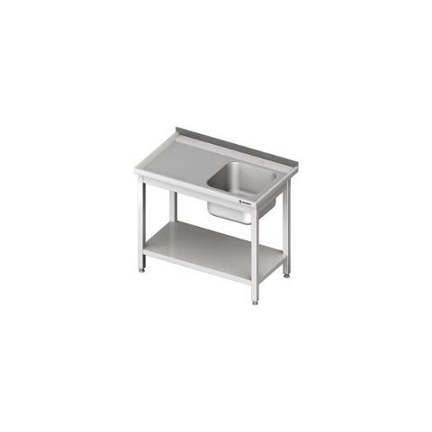 Stół ze zlewem 1-komorowym i półką(komora po prawej stronie) [STALGAST]
