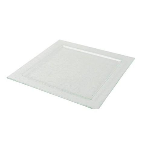 Talerz szklany kwadrat 50x50cm