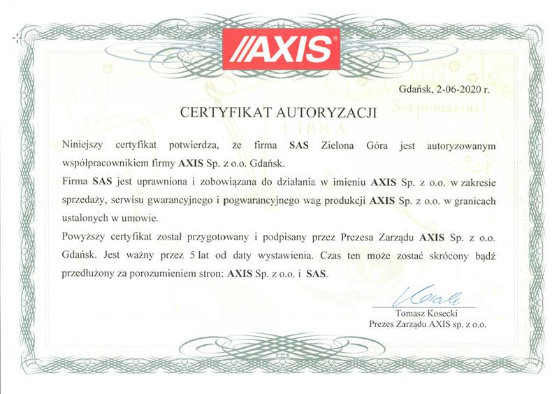 Autoryzacja AXIS dla SAS24.PL